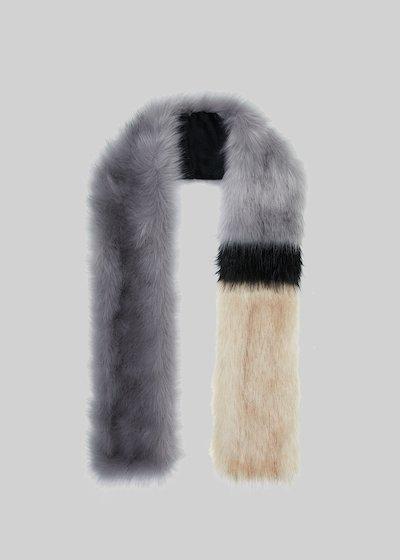 Skye stole faux fur effect in triple color