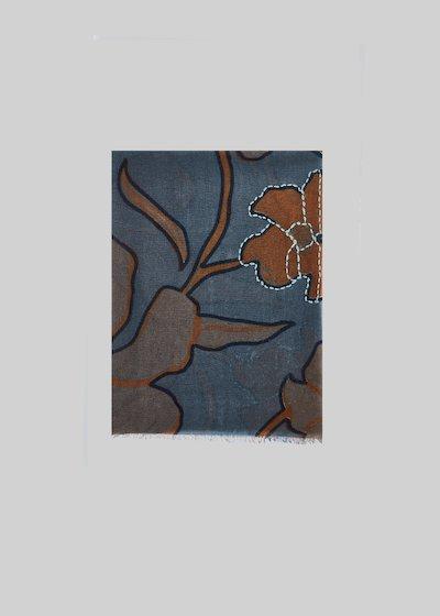 Sciarpa Symbol in lana stampa fiori