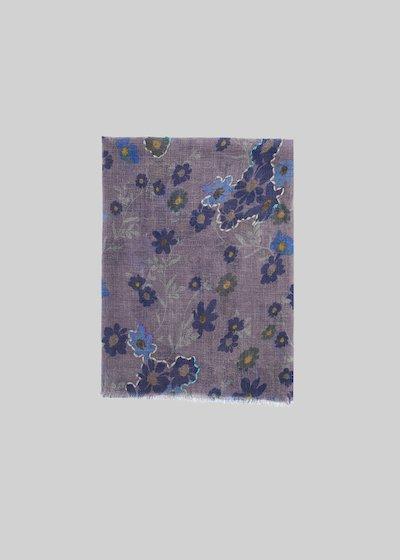 Sciarpa Simmy in lana dalla fantasia micro-fiori