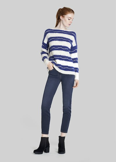 Marilyn sweater with stripes and boat neckline