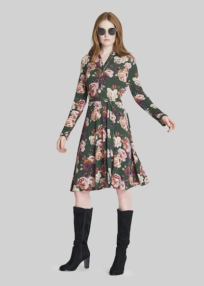 Adrien dress with all over print pattern