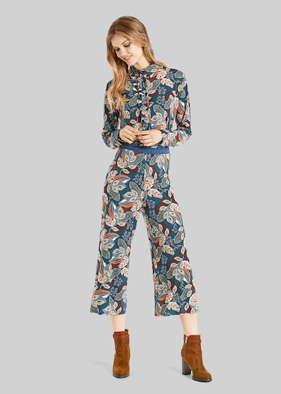 Paros jersey trousers with palais jamais pattern