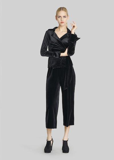 Pico 5 Short palazzo velvet trousers