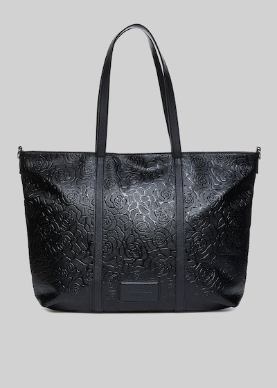 Shopping bag Beyond con roses embossed