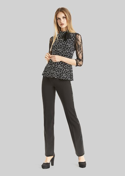 Paolo trousers with palazzo leg