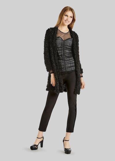 Cloris Knit Cardigan fur effect