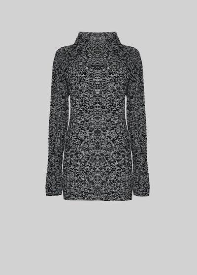 Mascia Long sleeve sweater melange effect with turtleneck