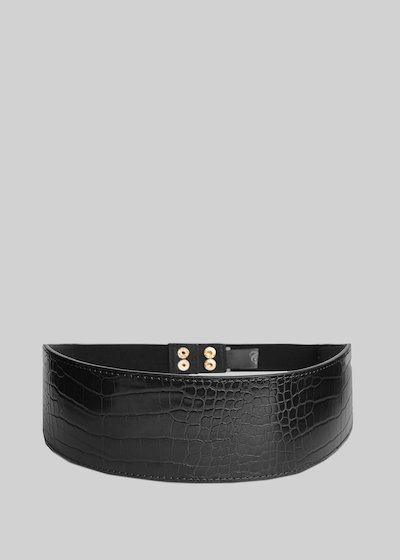 Coralia belt of eco-leather with a coconut effect
