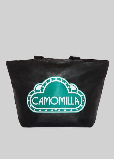 Faux leather Blody Bag with Camomilla logo