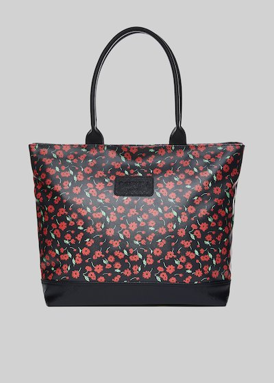 Trendbag2 shopping bag with floral pattern