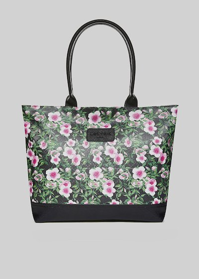 Trendbag4 shopping bag with floral print