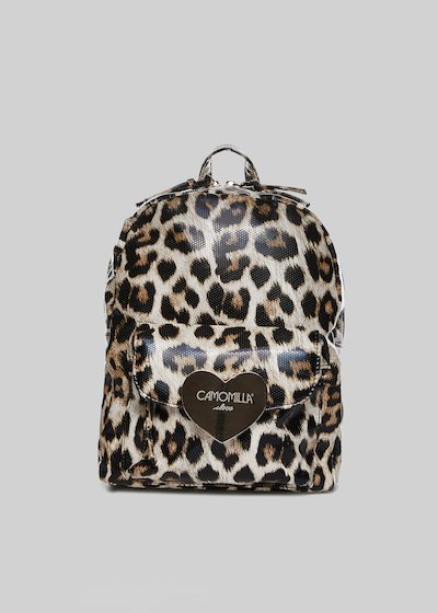 Bamby backpack with light gold heart detail