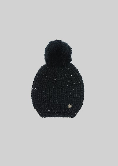 Knitted Carbel hat with sequin detail detail