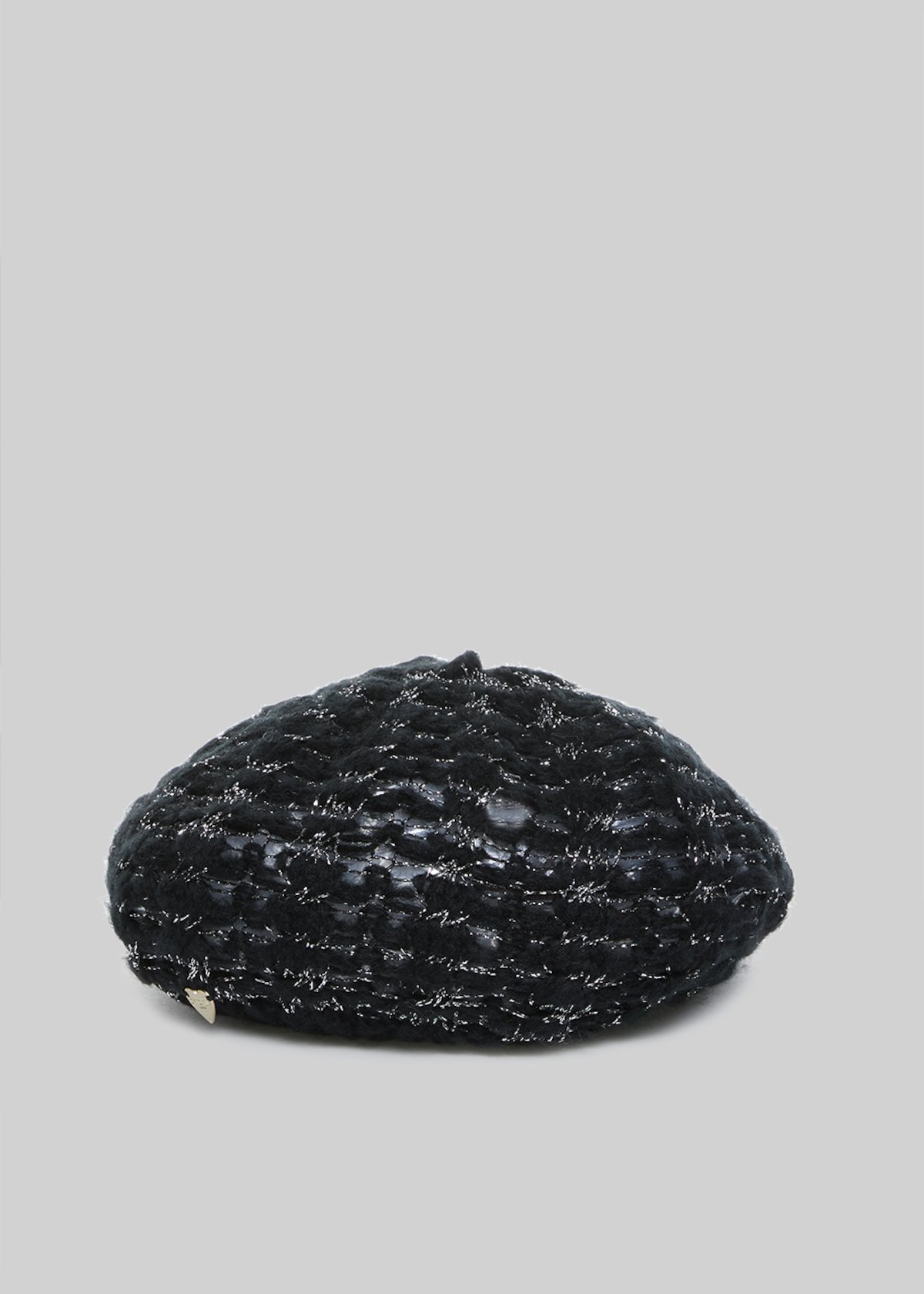 Coray hat with lurex effect - Black /  Silver