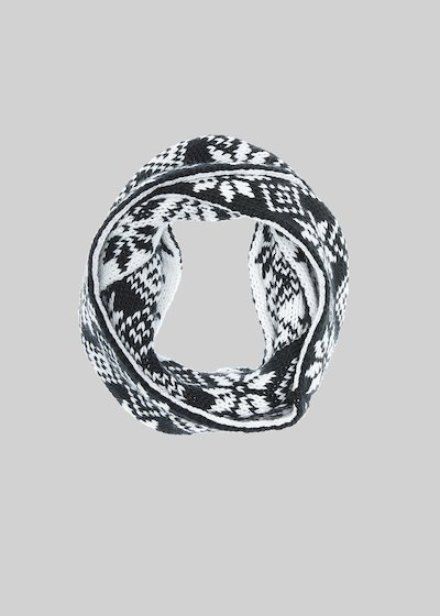 Shay knitted infinity scarf with pattern