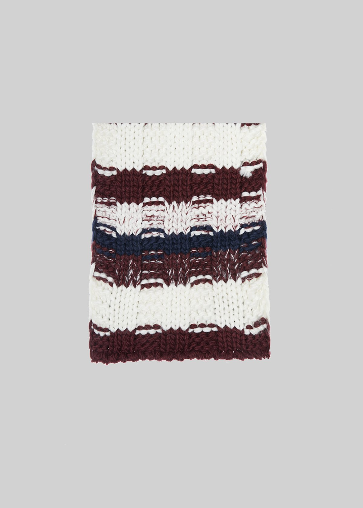 Sammie scarf with stripe fantasy - Bordeaux Stripes - Woman - Category image