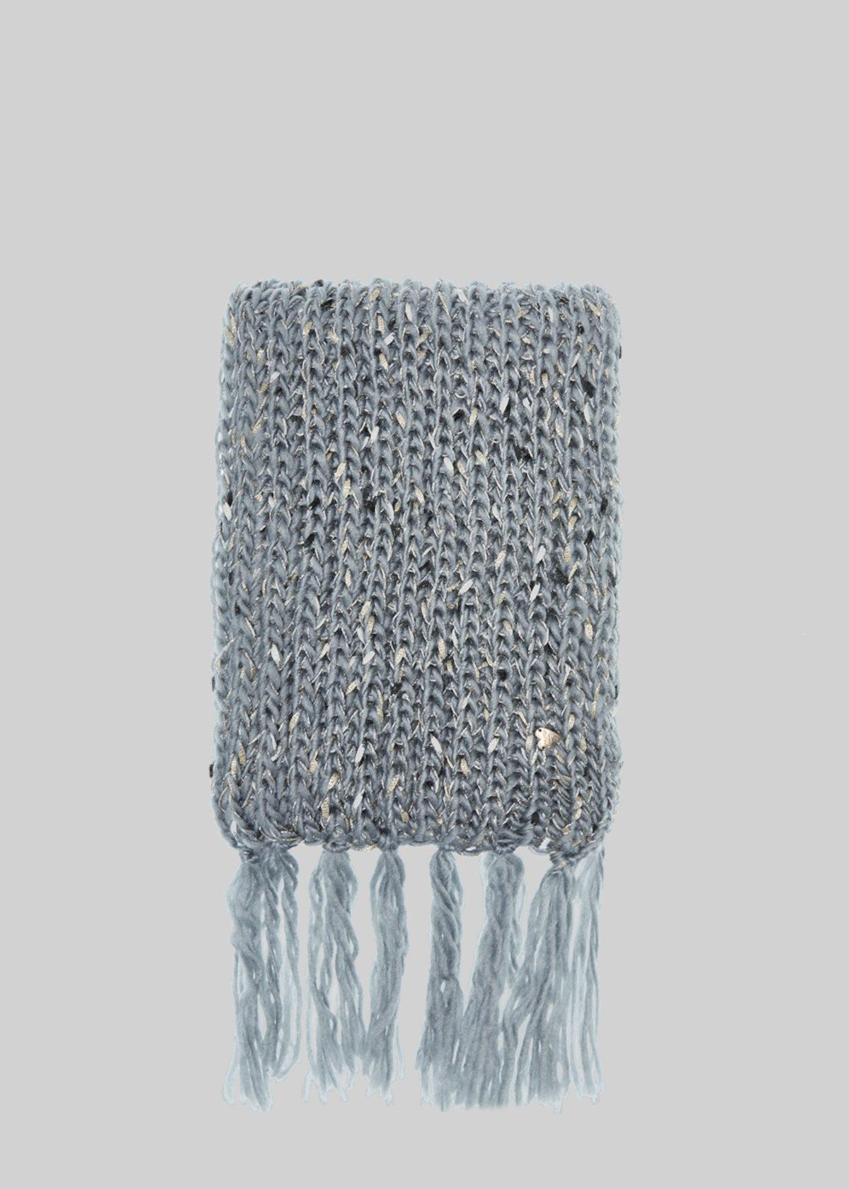 Sciarpa Saby con dettagli lurex e frange - Medium Grey - Donna - Immagine  categoria 9866ace37f44