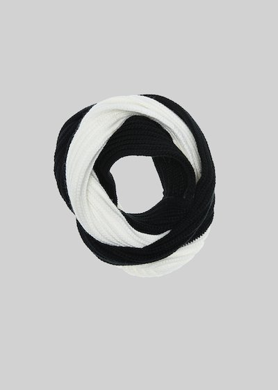 Sparky bicolour knitted infinity scarf