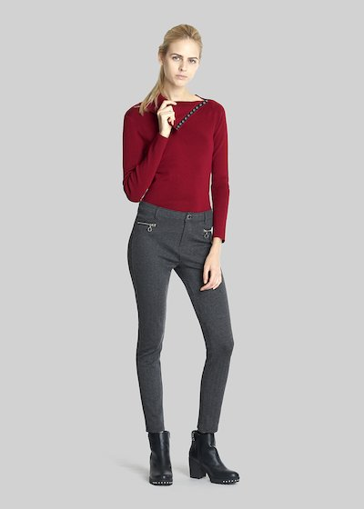 Pantaloni Pocket skinny con zip metalliche