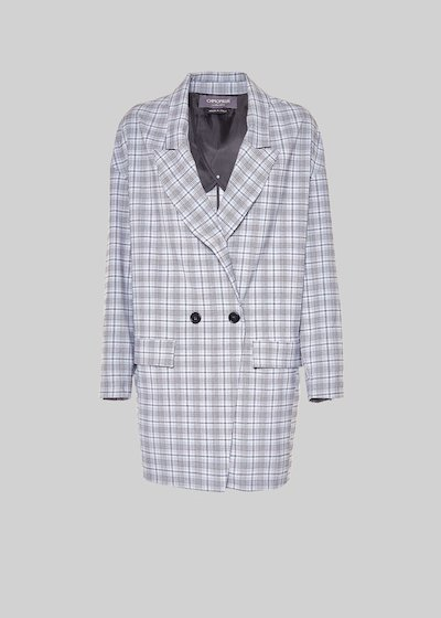 Gady jacket with check pattern