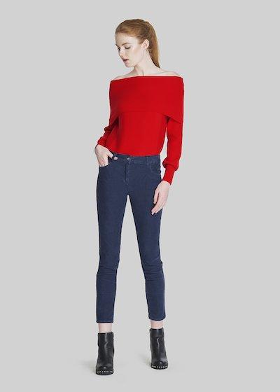 Pantaloni Pamel in velluto modello kate.