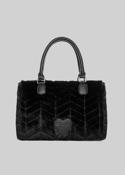 Borsa Batik in fake fure dal design a zig-zag