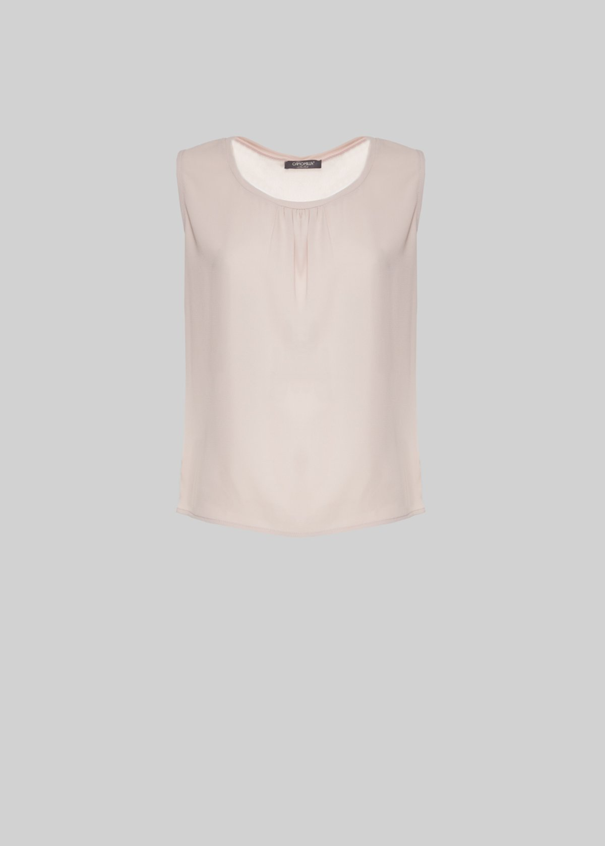 Theo crepe sleeveless top - Sepia