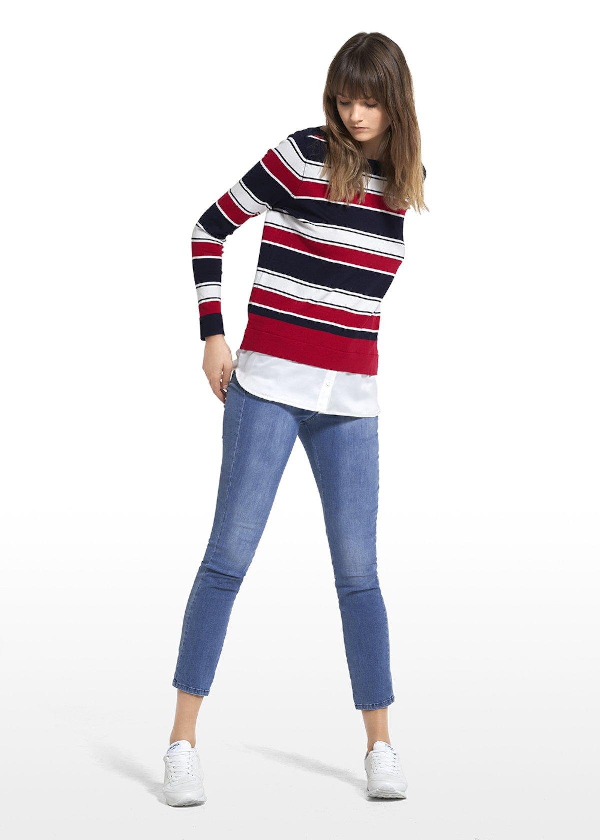Jeans Davis a gamba slim con salpa personalizzata - Light Denim - Donna - Immagine categoria