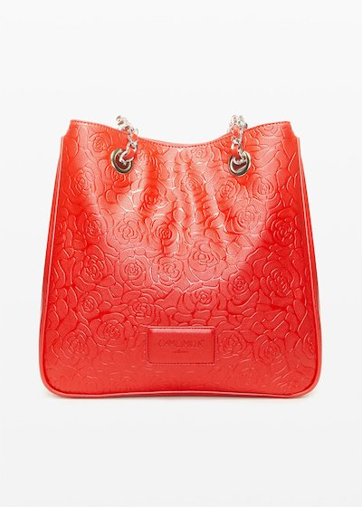 Brandy6- faux leather shopping bag flower fantasy