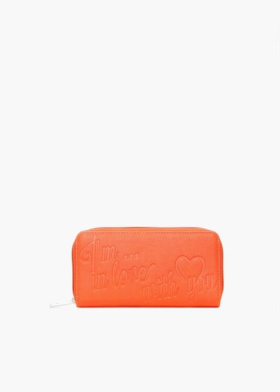 Pennie6 faux leather wallet with lettering print