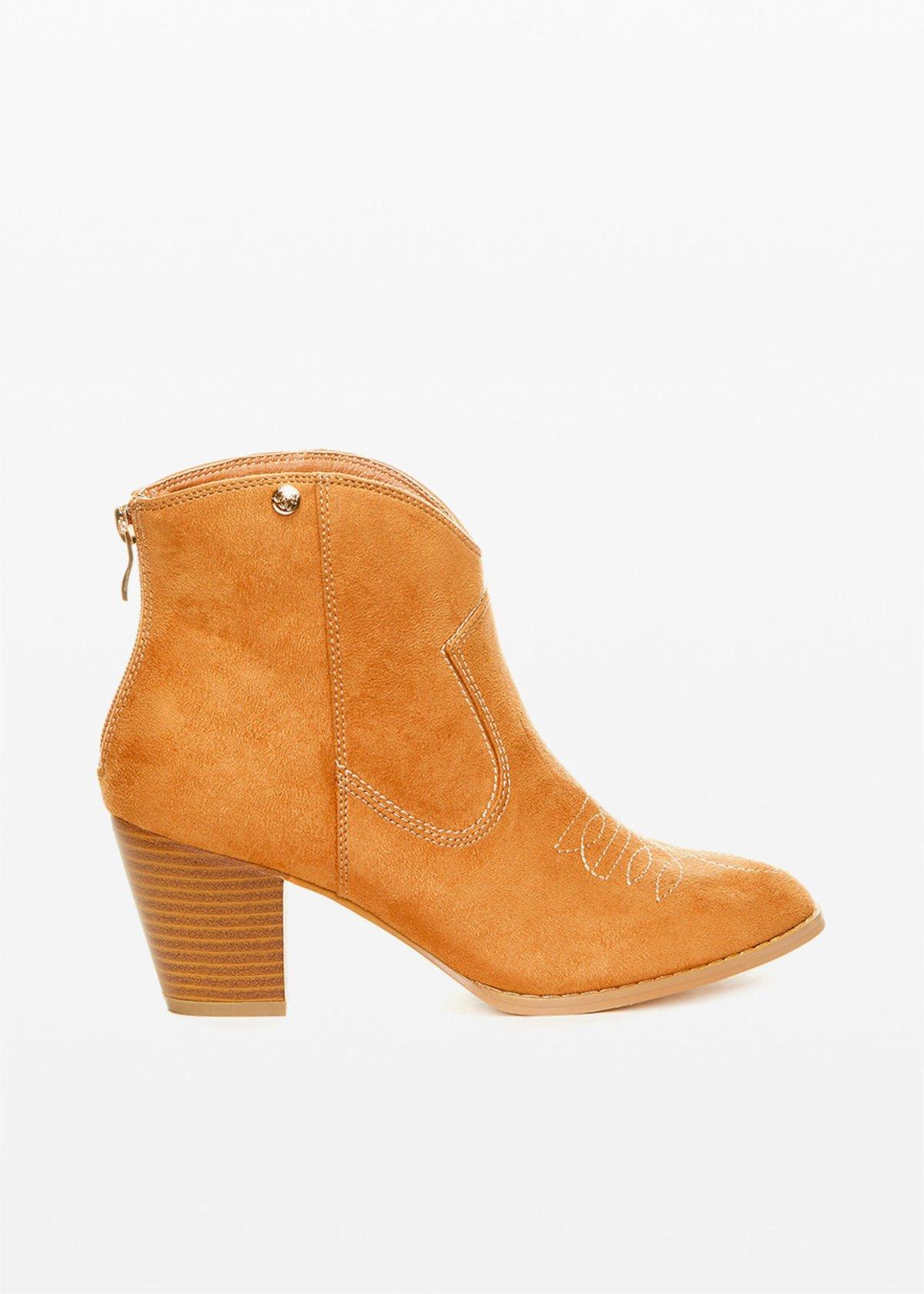 Faux suede Shila boots camperos model - Lion - Woman