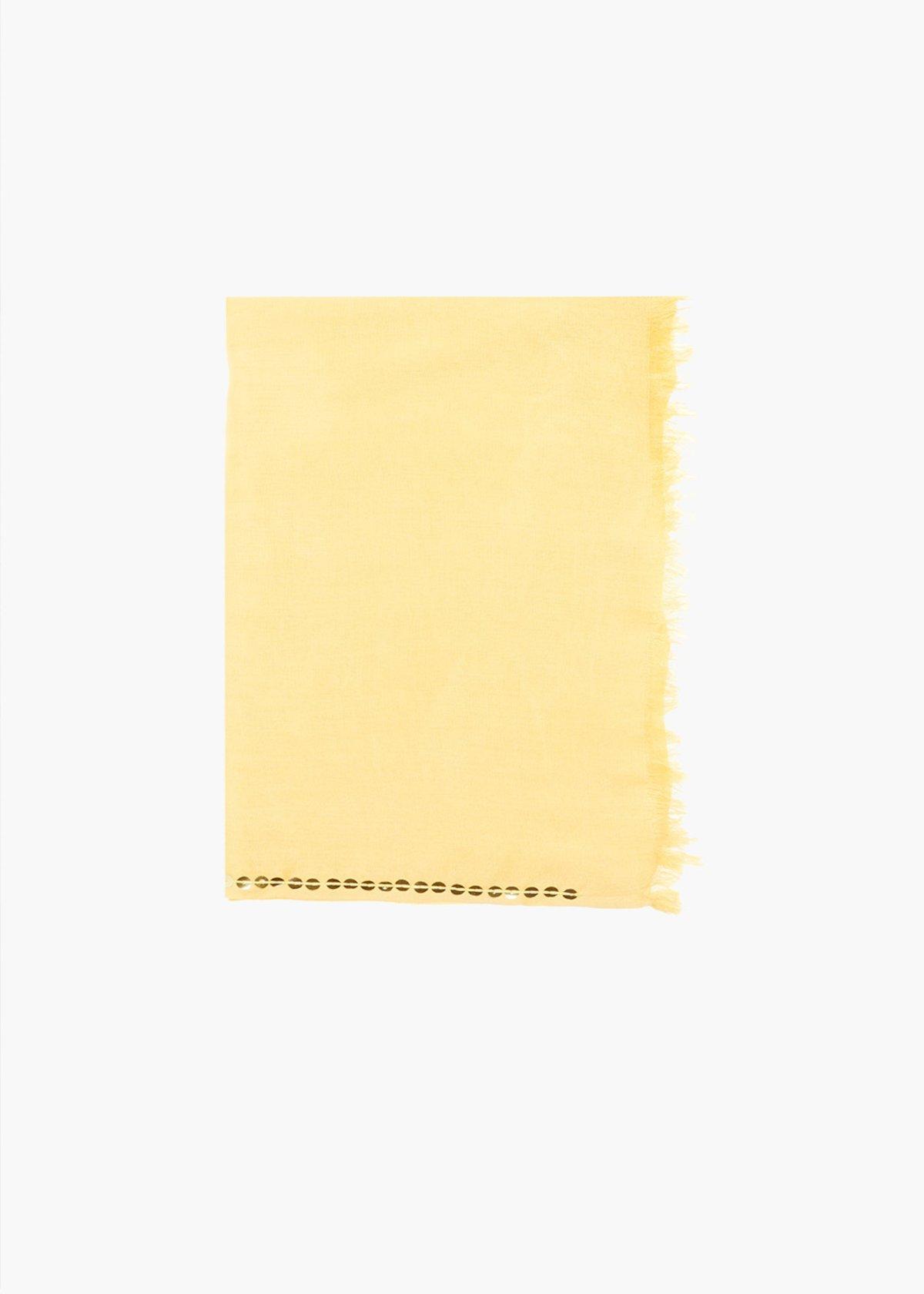 Pashmina Sequins basic in viscosa con dettaglio perline