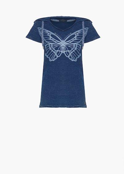 T-shirt Saphy con cappuccio