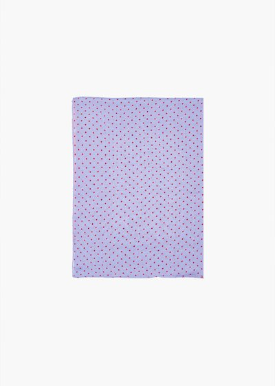 Sally scarf with polka dot pattern