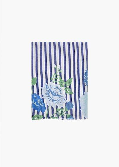 Sciarpa Semmy stripes fantasy con dettaglio flower