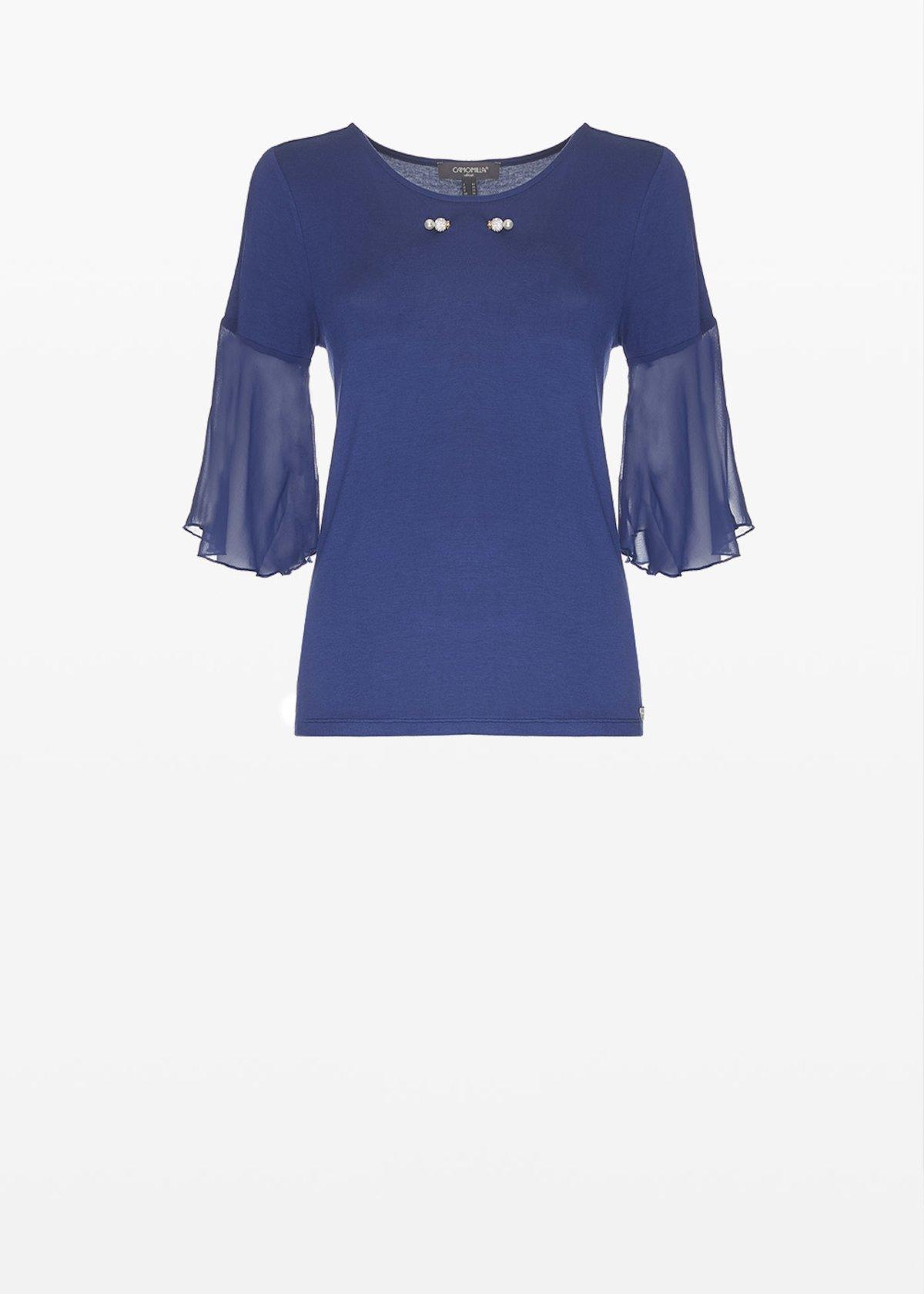 T-shirt Serenity in jersey dal dettaglio piercing sul davanti - Night - Donna - Immagine categoria