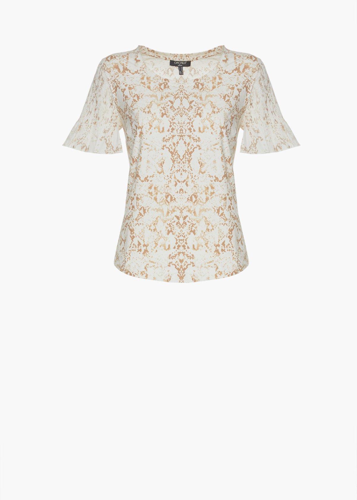T-shirt Silky  pitone print con arriccio - White / Nomad Fantasia - Donna - Immagine categoria
