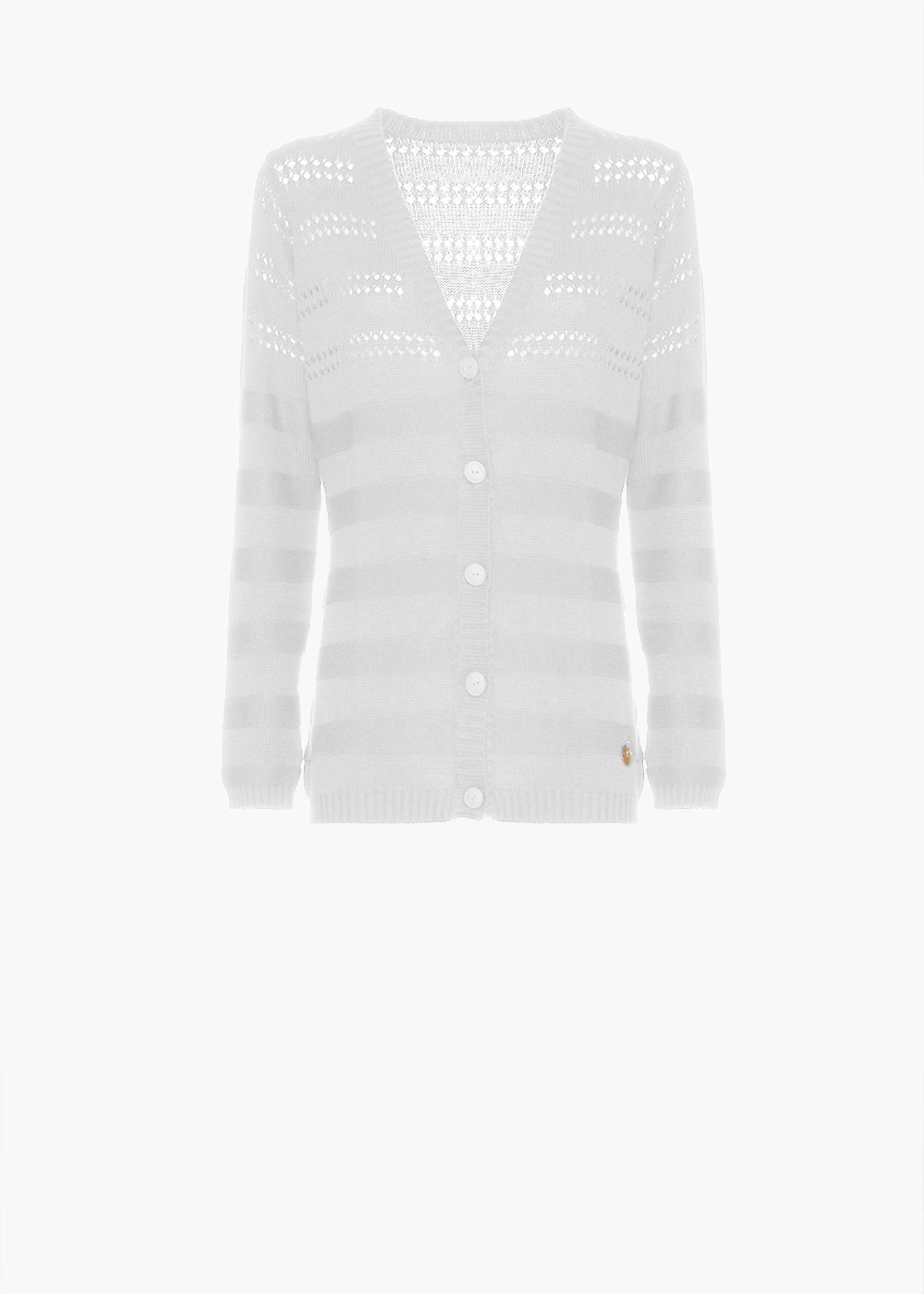 Cardigan Couli with button closure - White - Woman