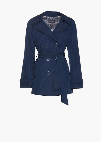 Double-breasted trench coat Teo with buttons and belt