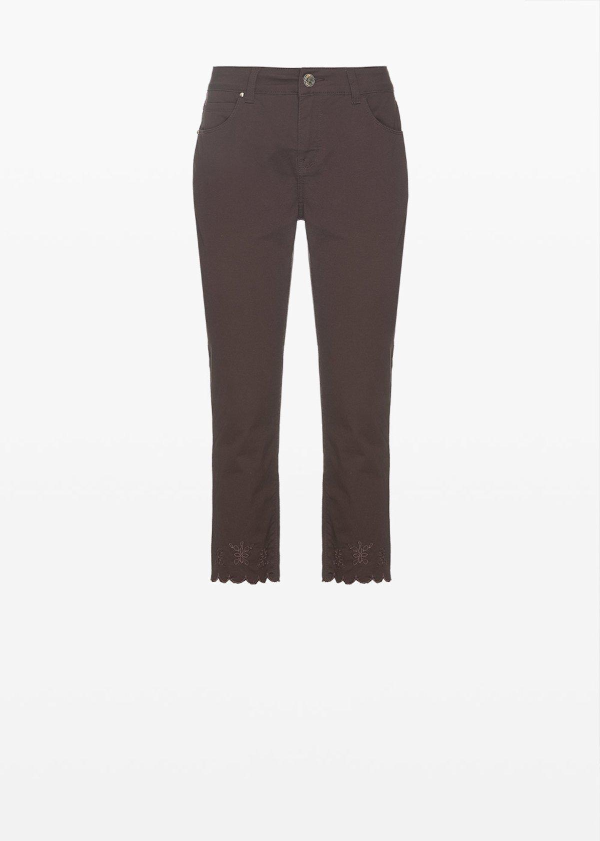 Capri trousers Palmer con fondo gamba smerlato - Crosta - Donna - Immagine categoria