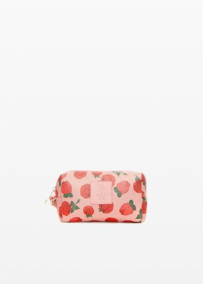 Briccros6 faux leather beauty roses print