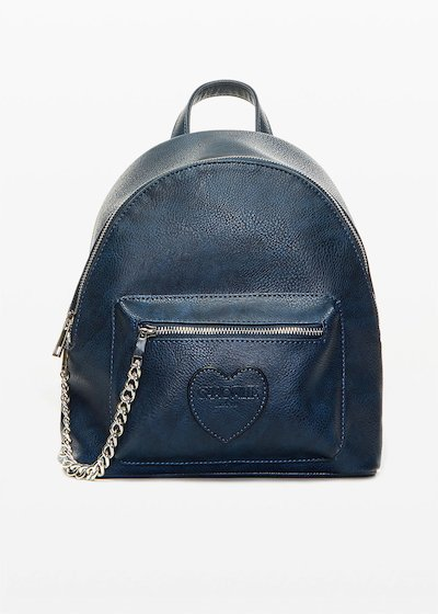 Faux leather Brash backpack with metal chain