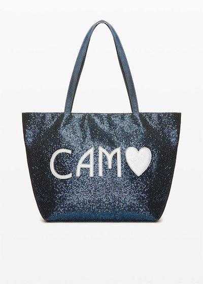 Bondy Shopping bag in sparkling material