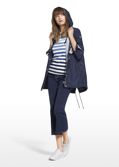 Parka Gixy con coulisse in vita