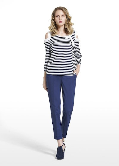 T-shirt Scherry stripes fantasy con fiocco
