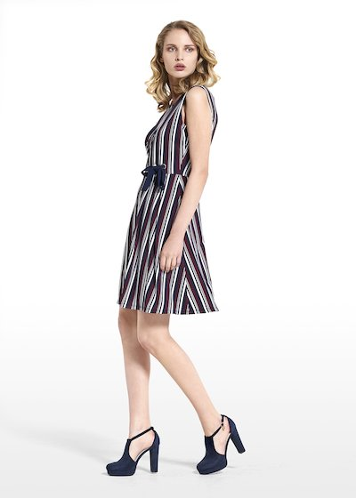 Dress Acros in jersey crêpe sleeveless