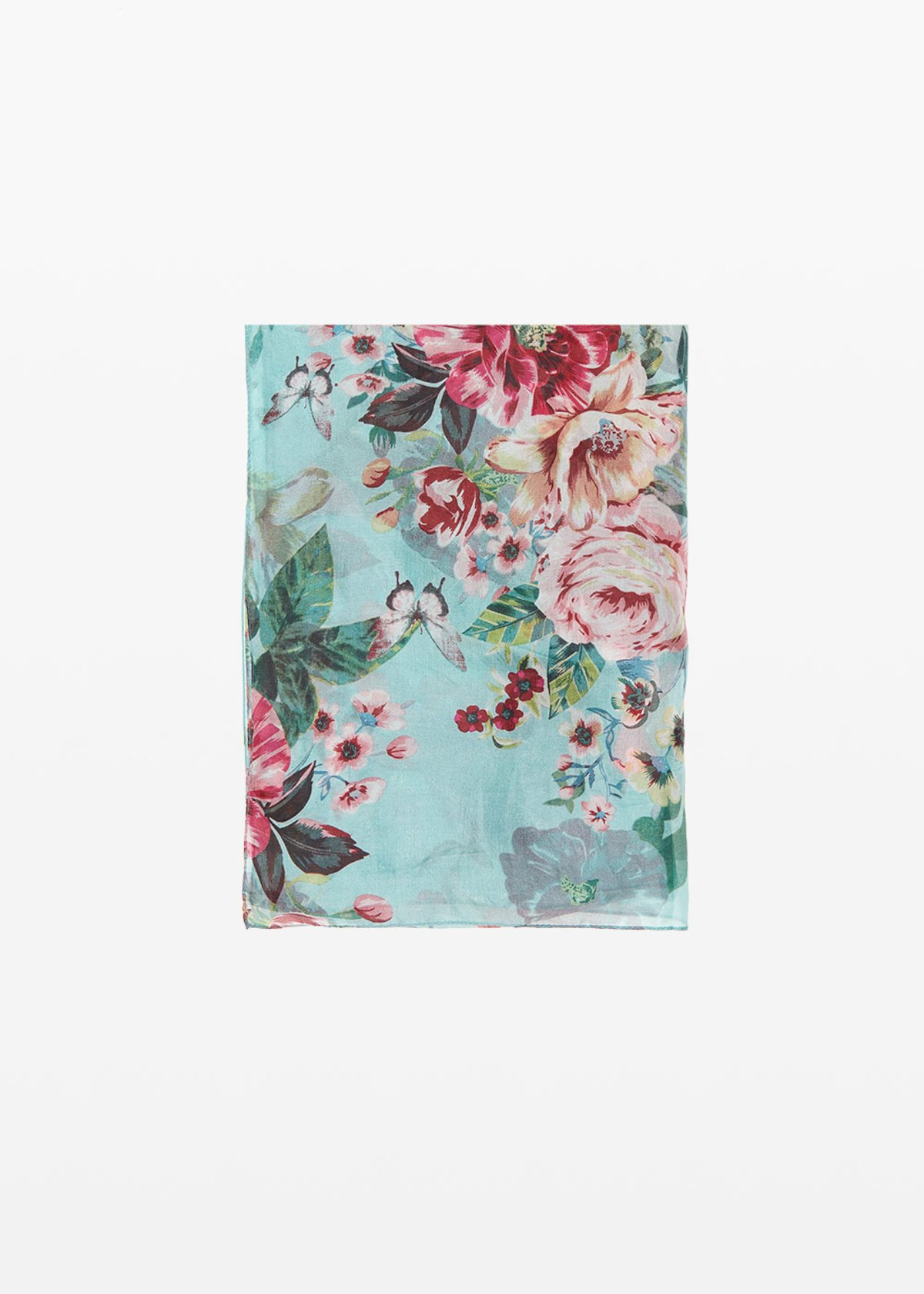 Soleh Scarf floral pattern - Plant / Hibiscus Fantasia - Woman