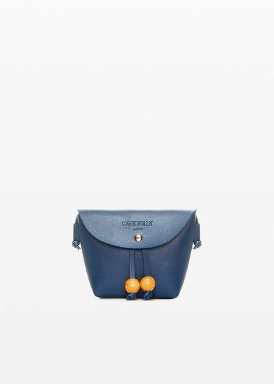 Small shoulder bag Bridget con decoro boule in legno