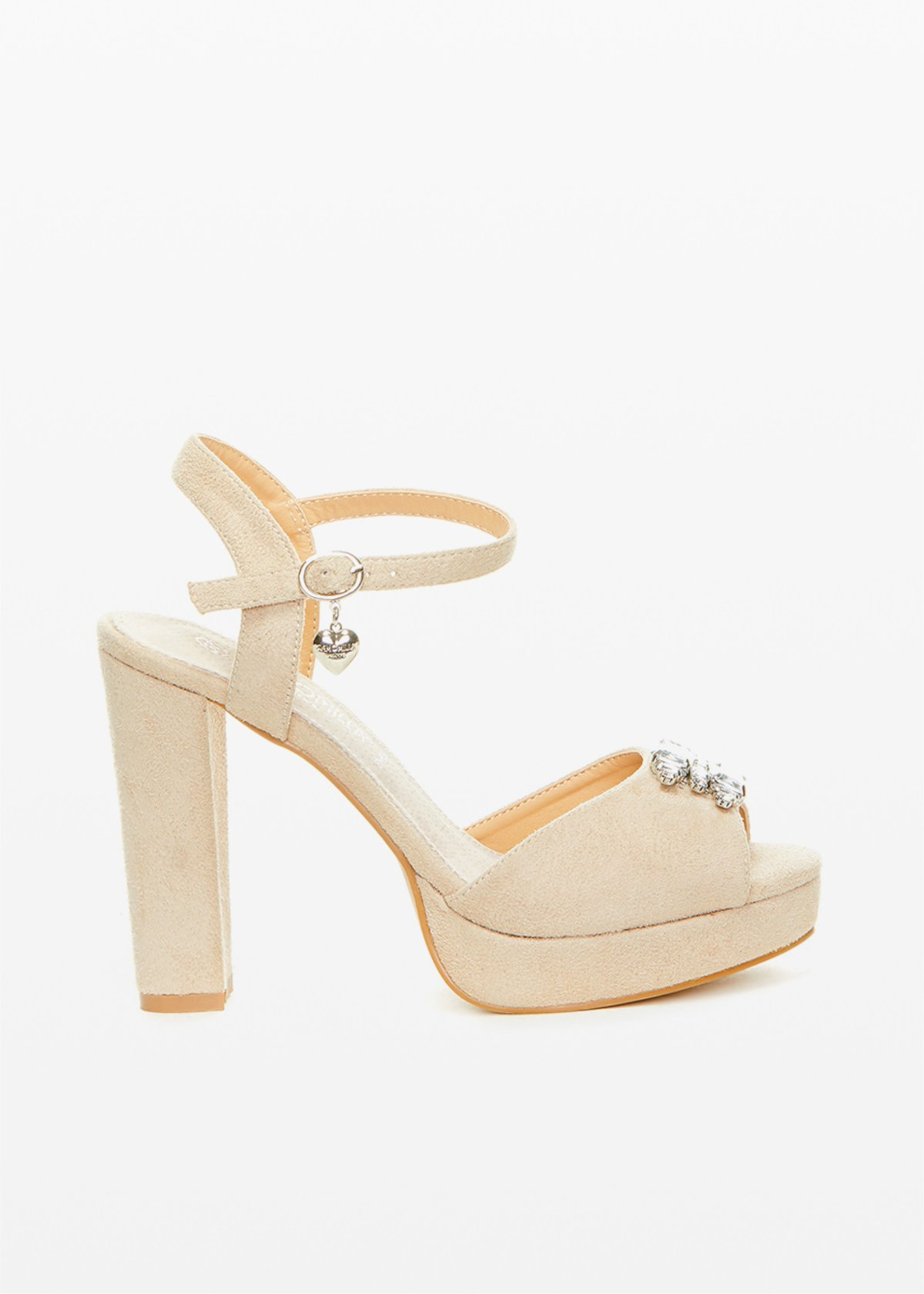 Selma sandals with jewel detail - Doeskin - Woman - Category image