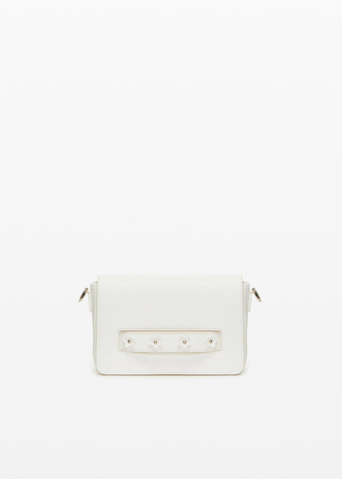 Crossbody bag Bay in ecopelle con dettaglio fiori - White - Donna - Immagine categoria